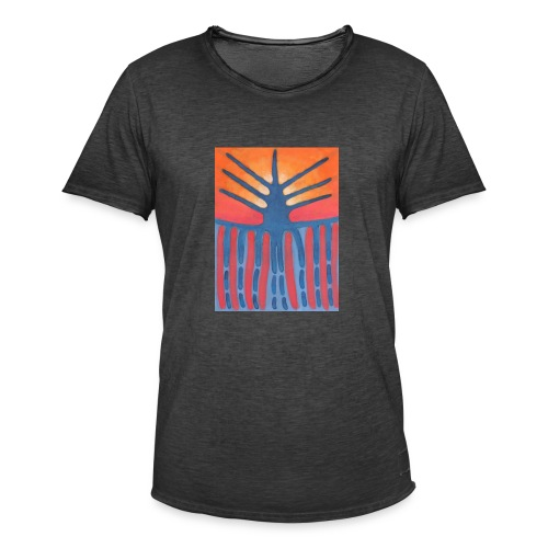 drzewo prehistoryczne 1 - Koszulka męska vintage