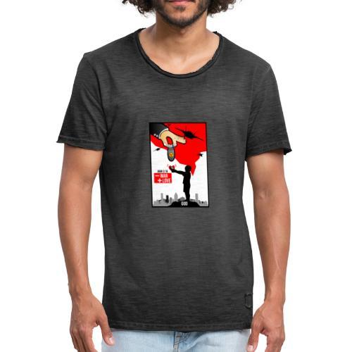 Cartel mas amor menos guerra - Camiseta vintage hombre