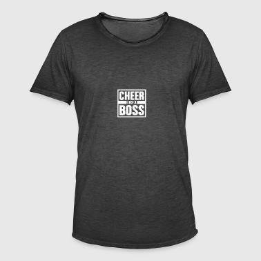 Animar como Boss - Cheerleading - Camiseta vintage hombre