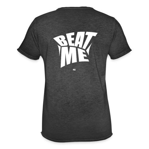 Beat me pls white - Männer Vintage T-Shirt