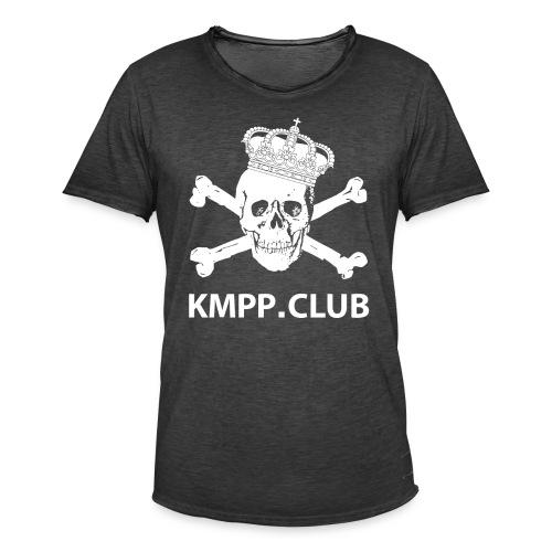 Käpylä Maanantai Skull n Bones logo2 png - Miesten vintage t-paita