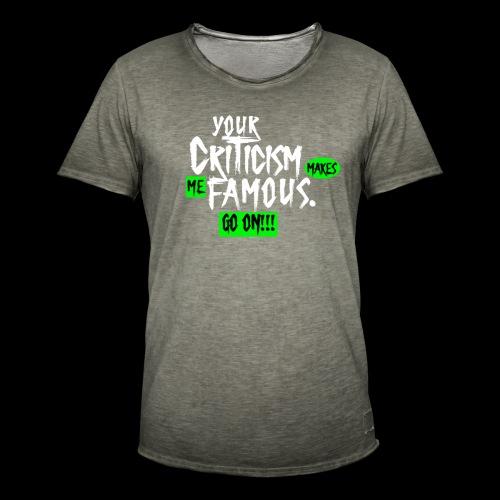 CRITICA 2 - Camiseta vintage hombre