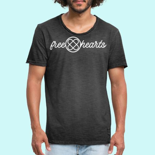 freehearts white logo - Männer Vintage T-Shirt