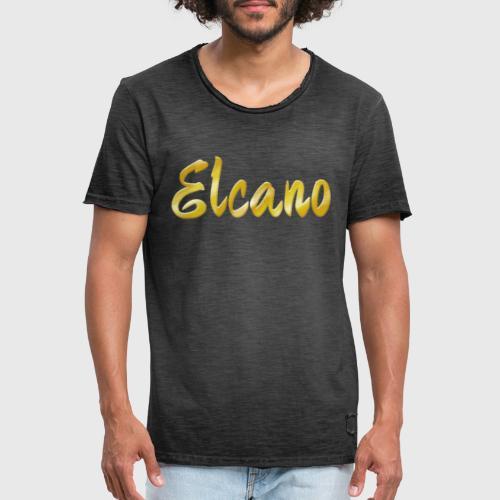 ELCANO Schriftzug - Männer Vintage T-Shirt