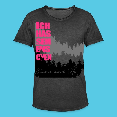 Ich hasse menschen, liebe Bäume - Männer Vintage T-Shirt