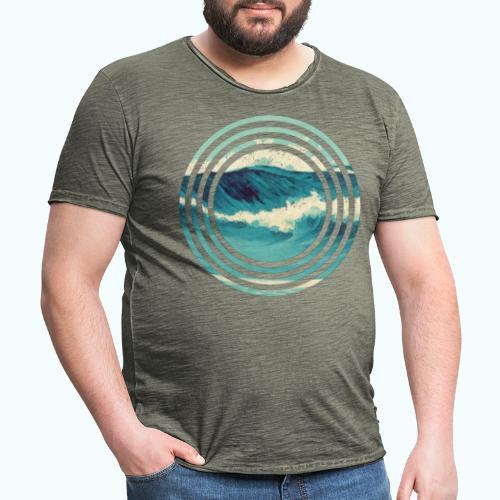 Wave vintage watercolor - Men's Vintage T-Shirt