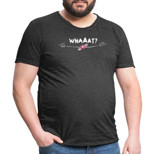 What? - Maglietta vintage da uomo