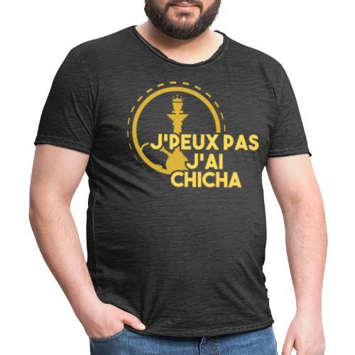 J'PEUX PAS J'AI CHICHA GOLD LOGO - T-shirt vintage Homme