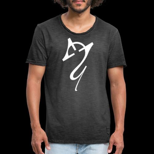 Overscoped logo White - Men's Vintage T-Shirt