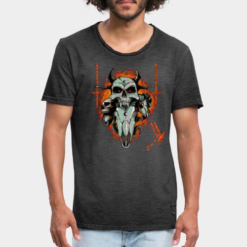Skulls - Maglietta vintage da uomo