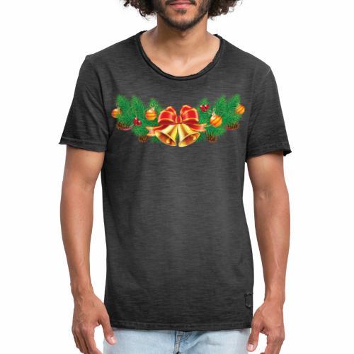 Jul-Dekoration - Vintage-T-shirt herr