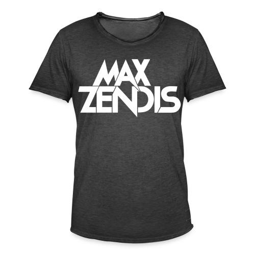 MAX ZENDIS Logo Big - Black/White - Männer Vintage T-Shirt