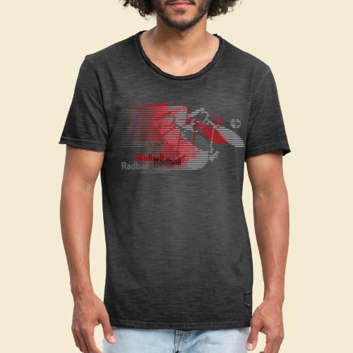 Radball | Earthquake Red - Männer Vintage T-Shirt