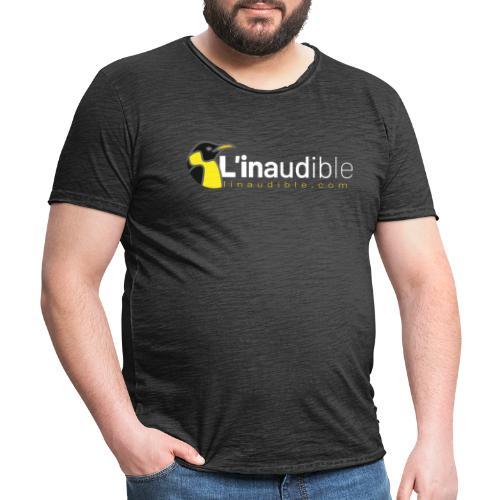 linaudible2020blanc - T-shirt vintage Homme