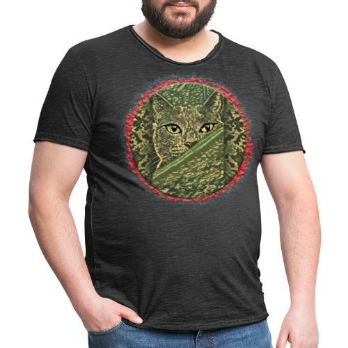 CAT GRACE CAMOUFLAGE - Männer Vintage T-Shirt