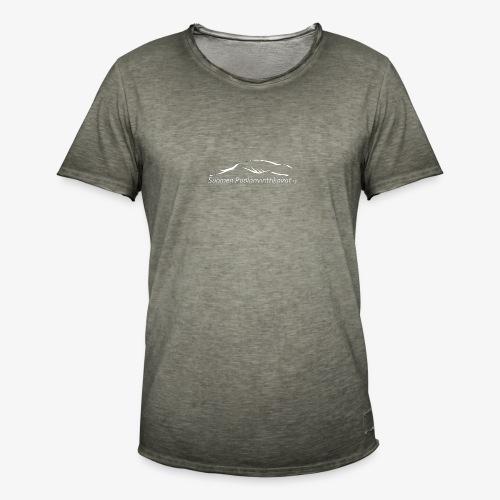 SUP logo valkea - Miesten vintage t-paita