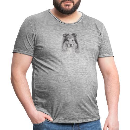 shetland sheepdog sheltie - Herre vintage T-shirt