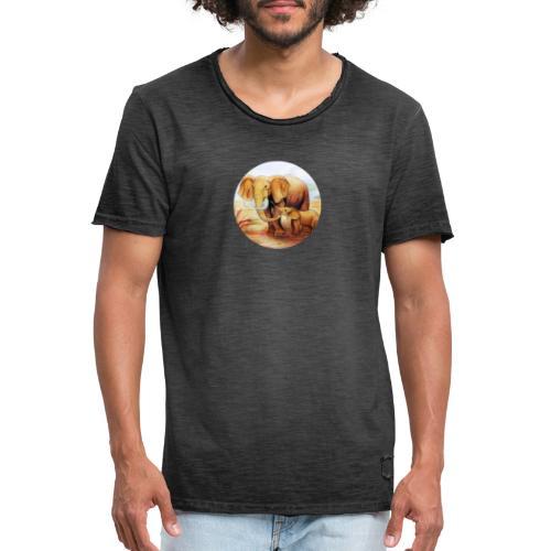 Elephants in Africa - Camiseta vintage hombre