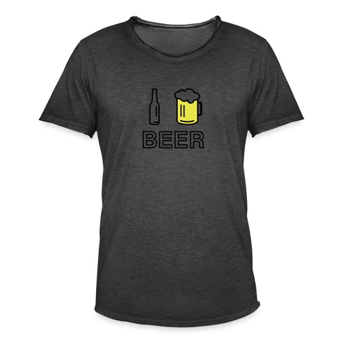 I Love Beer (2-farbig) - Männer Vintage T-Shirt