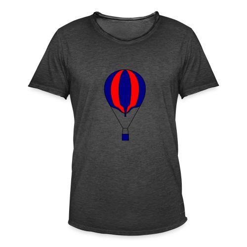 Gasballon blau rot gestreift unprall - Männer Vintage T-Shirt