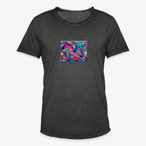 Fiesta de colores - Camiseta vintage hombre
