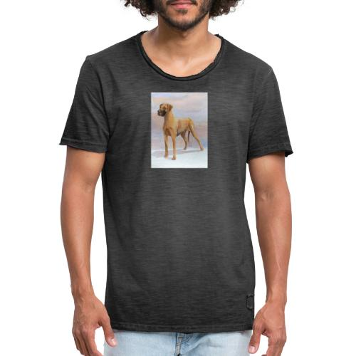 Great Dane Yellow - Herre vintage T-shirt