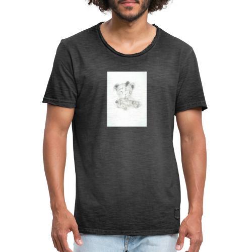 Broken teddybear - Mannen Vintage T-shirt