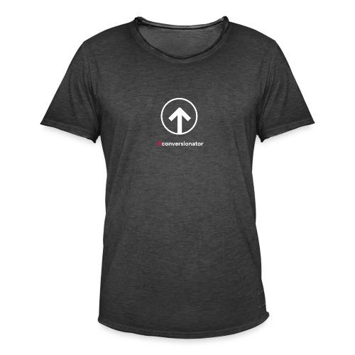 Conversionator mit Pfeil (weiß) - Männer Vintage T-Shirt