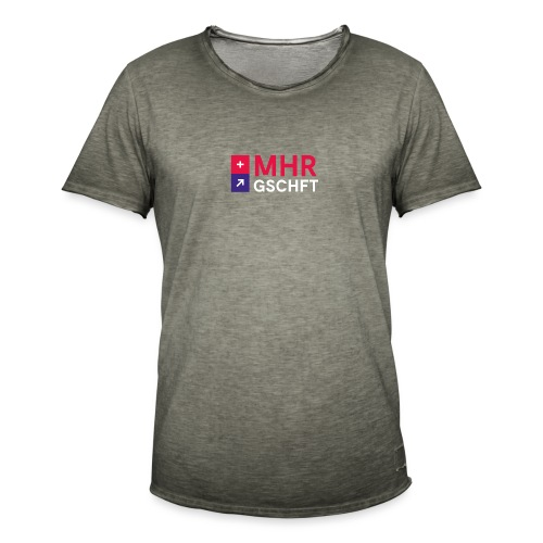 MHR GSCHFT mit Logo - Männer Vintage T-Shirt