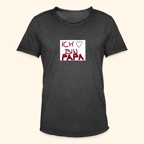 Papa - Männer Vintage T-Shirt