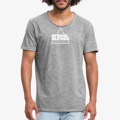 KIWA Satisfiction White - Men's Vintage T-Shirt