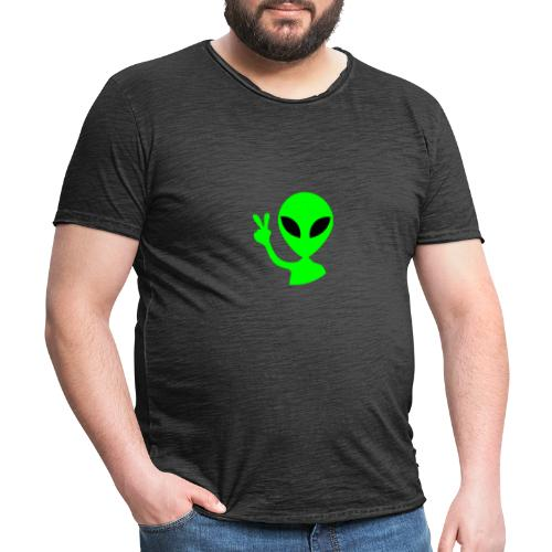 Peace out Alien - Men's Vintage T-Shirt
