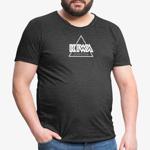 KIWA Satisfiction White - Men's Vintage T-Shirt
