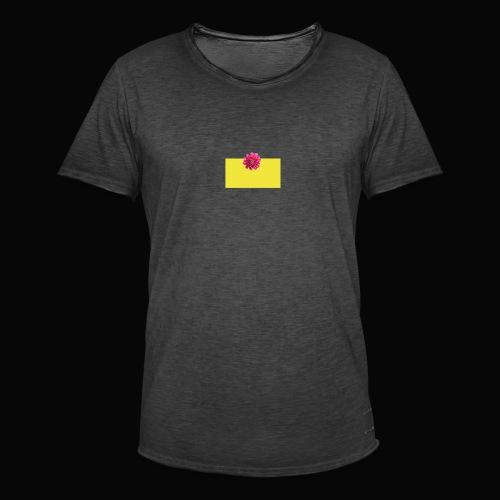 flower - Vintage-T-skjorte for menn