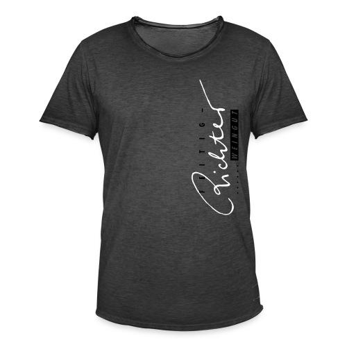 logo schwarzrot - Männer Vintage T-Shirt