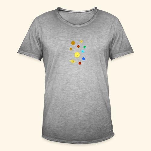 Solsystemet - Vintage-T-shirt herr