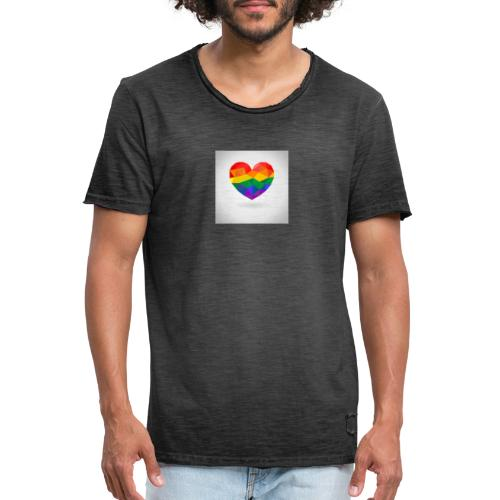 Lgbtq Herz - Männer Vintage T-Shirt