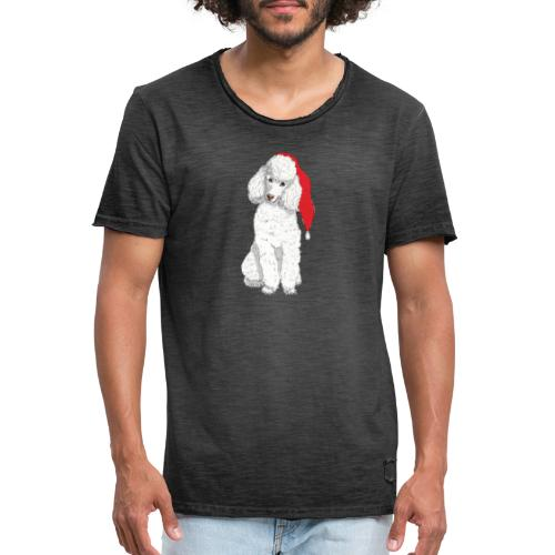 Poodle toy W - christmas - Herre vintage T-shirt