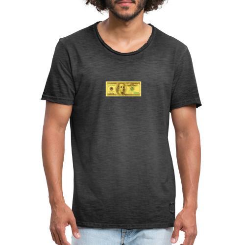 Luksus Dollar Tegn Box. - Herre vintage T-shirt