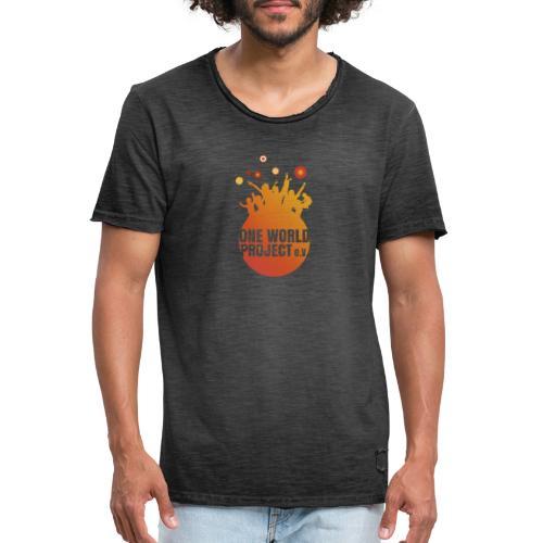 One World Project e. V. - Logo - Männer Vintage T-Shirt