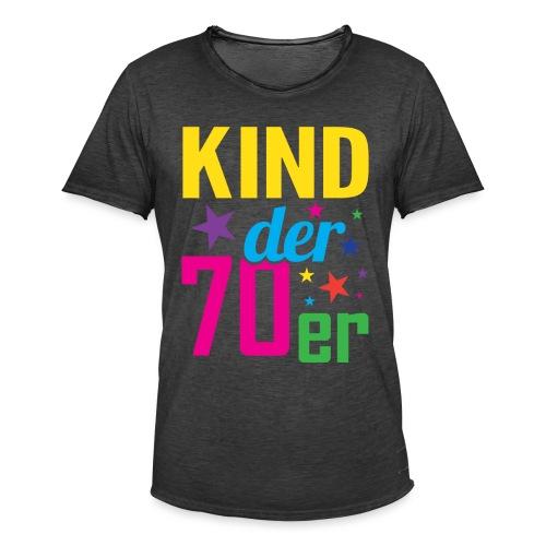 Kind der 70er - Männer Vintage T-Shirt