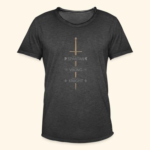 Spartan Viking Knight GRAU - Männer Vintage T-Shirt