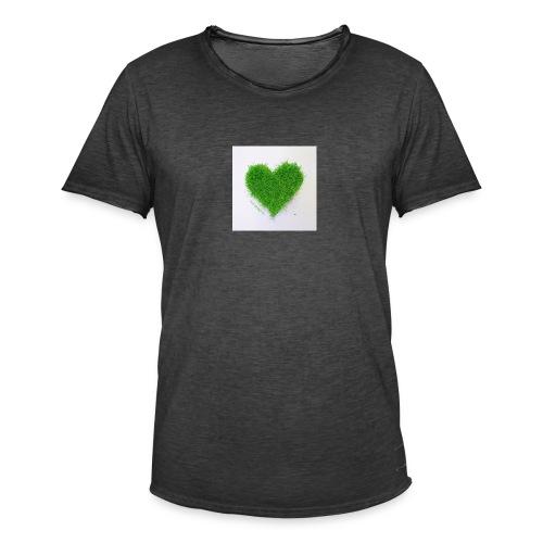 Herzrasen Button - Männer Vintage T-Shirt