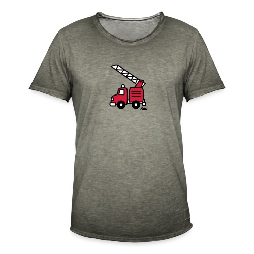 Feuerwehrauto (c) - Männer Vintage T-Shirt