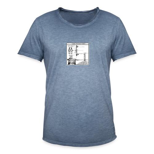W.O.T War tactic, tank shot - Men's Vintage T-Shirt