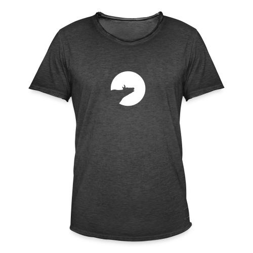 Howling Cow - Männer Vintage T-Shirt