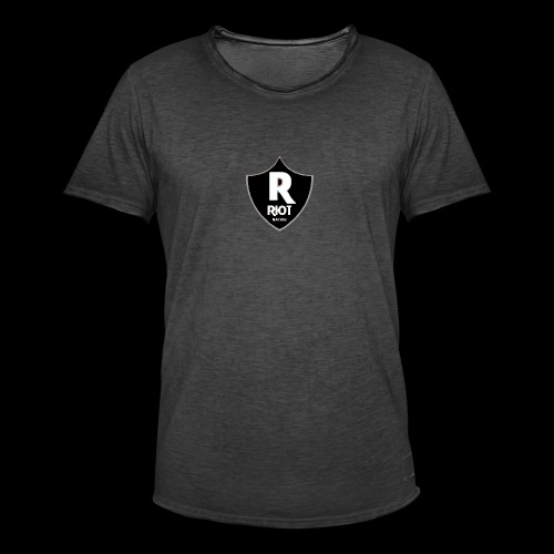 riot Nation logo schwarz - Männer Vintage T-Shirt