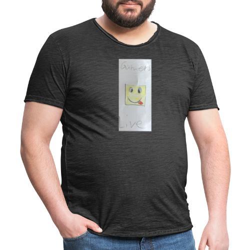 Gamers Live Maske - Männer Vintage T-Shirt