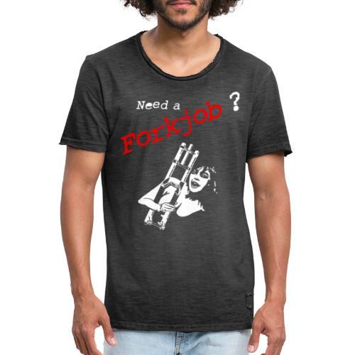 Forkjob - Männer Vintage T-Shirt