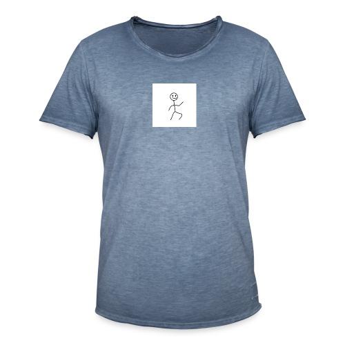 stick man t-shirt dance 1,0 - Herre vintage T-shirt